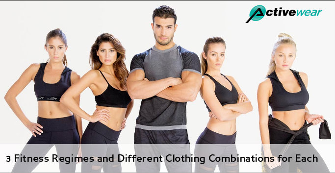 3 Fitness Regimes and Different Clothing Combinations for Each by Activewear Manufacturer