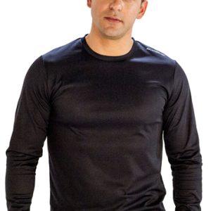 Black full sleeve men's t-shirt