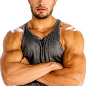 Grey men's workout tank tee