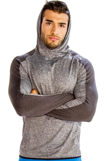 Dual shaded grey men's hoodies