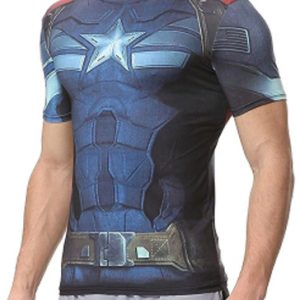 Superhero blue men's compression t-shirt