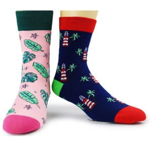 Wholesale Pink and Blue Printed Socks Set