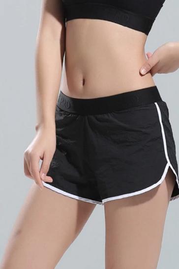 Black and white women's shorts