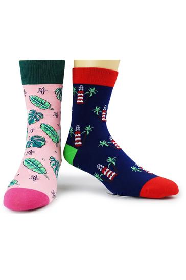 Wholesale Pink and Blue Printed Socks Set