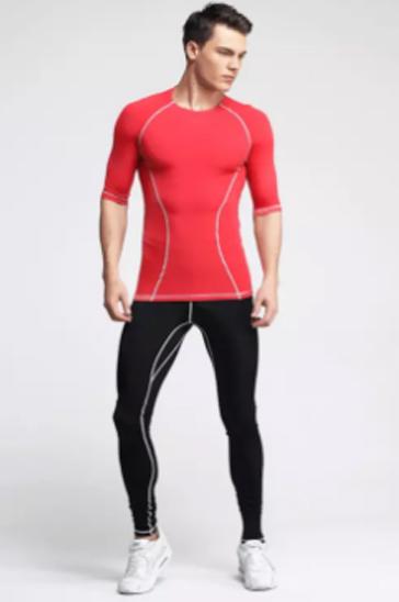 Red men's running tee