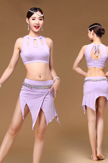 Wholesale women's lavender classy belly dance clothing
