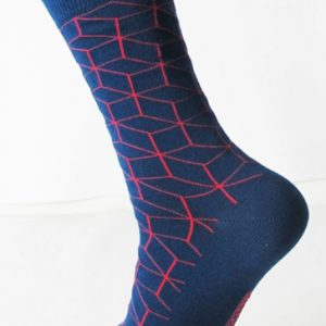 Smart navy-blue socks