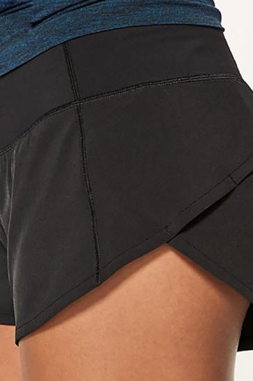 Black plain women's shorts