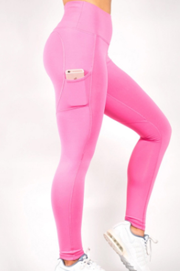 Baby pink women's leggings