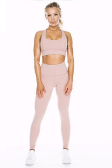 Pastel pink women's compression set