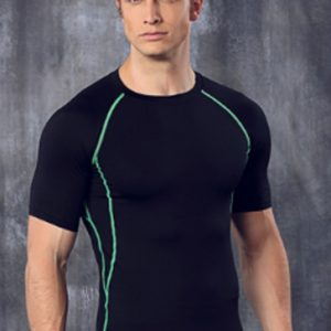 Smart black men's running tee