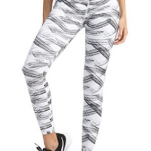 Black and white women's leggings