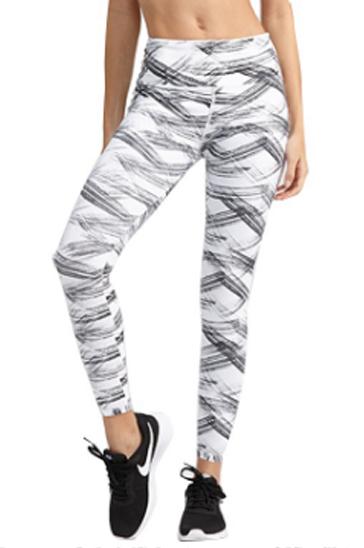 Black and white women's leggings