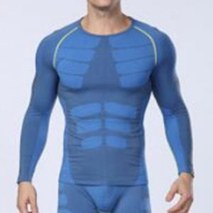 Dual shaded blue men's compression t-shirt