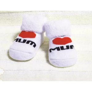 Cute white kids 'socks