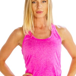 Bubble gum pink women's workout tank top