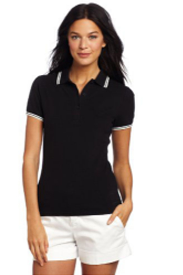 Black and white women's polo t-shirts