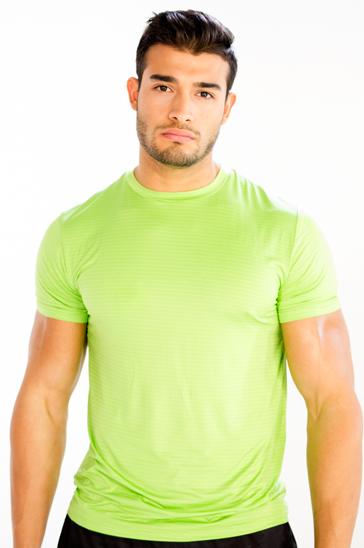 Light green men's running tee