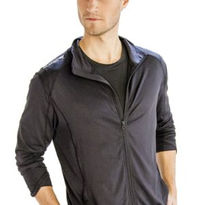 Dark steel grey men's yoga jackets
