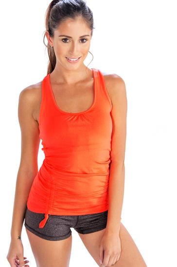 Orange and grey women's yoga clothing set