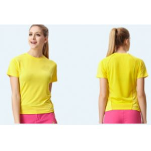 Bright yellow women's t-shirts