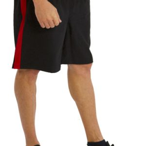 Black And Red Mens Gym Shorts Wholesale