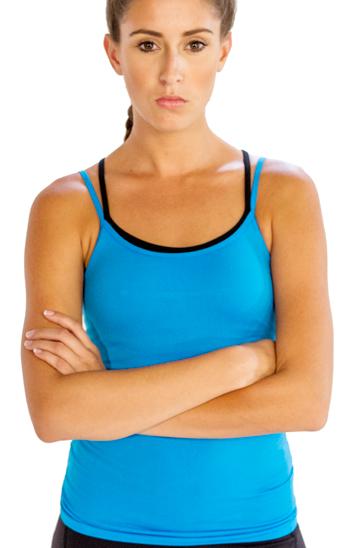 Aqua blue women's yoga camisole