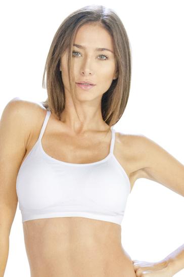White women's cropped t-shirts
