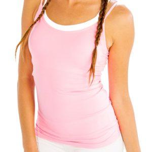 Light baby pink and white women's yoga set