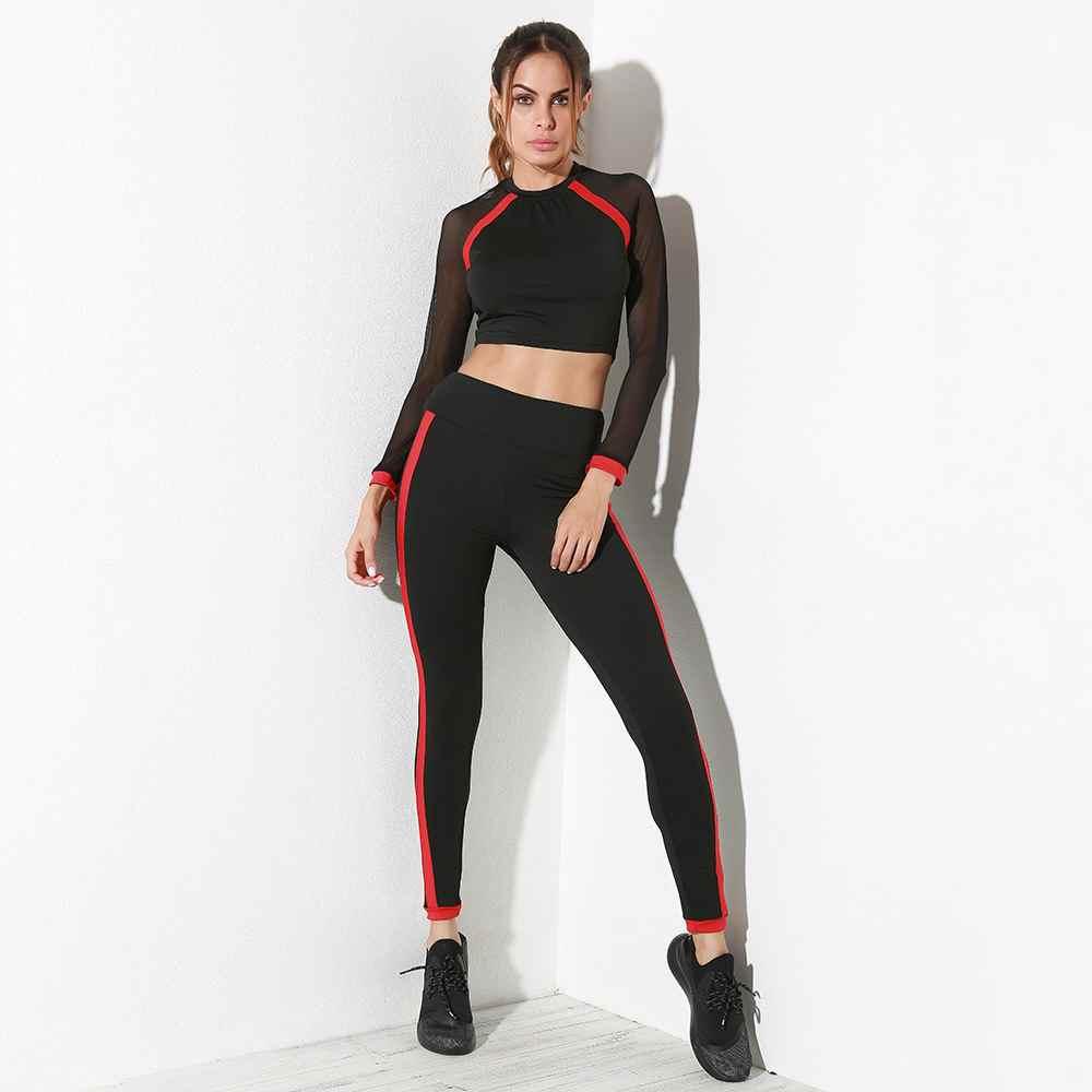 Custom Wholesale Black Slim Fit Fitness Clothing Set For Women image
