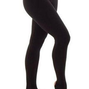 Plain Black Stirrup Leggings Wholesale