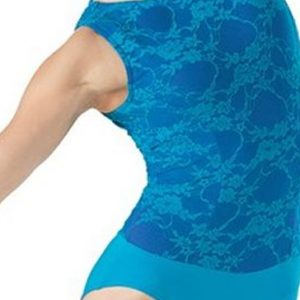 Dressy Blue Hued Printed Dance Corset Manufacturer