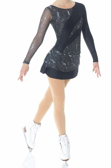 Silver and Blue Skater and Gymnastic Dress Manufacturer