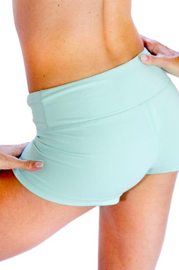 Pastel light blue women's shorts