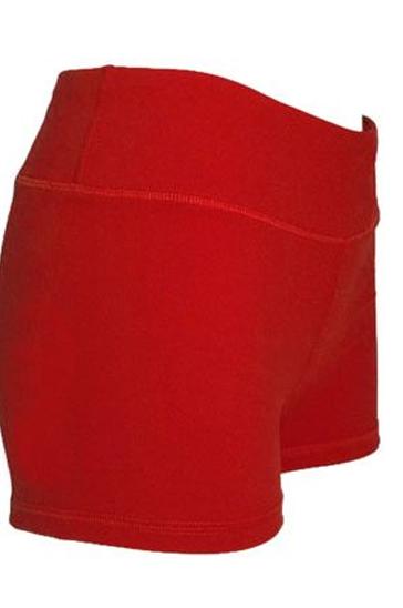Vibrant red men's running shorts
