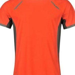 Orange and grey men's running t-shirt
