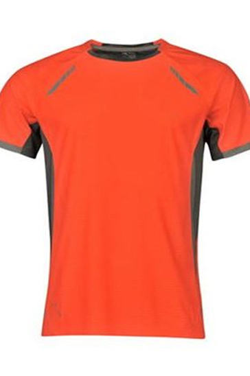 Orange and grey men's running t-shirt