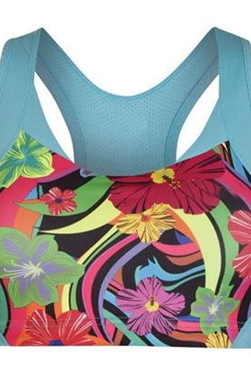 Bright Floral Sports Bra Manufacturer