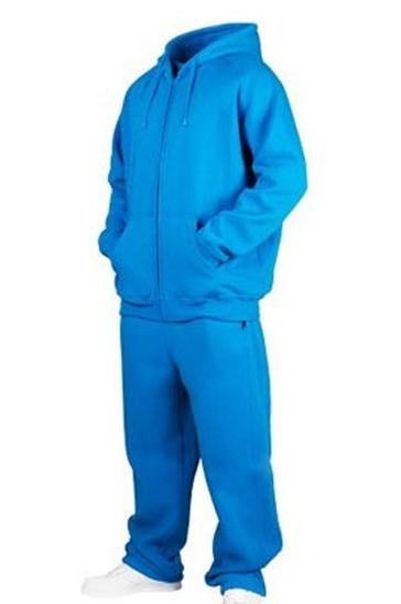 Bright aqua blue men's sweats
