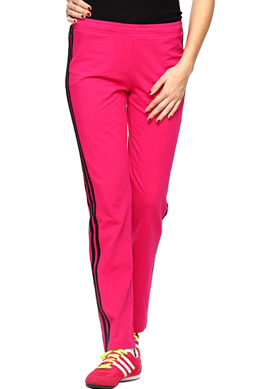 Magenta and black women's track pants