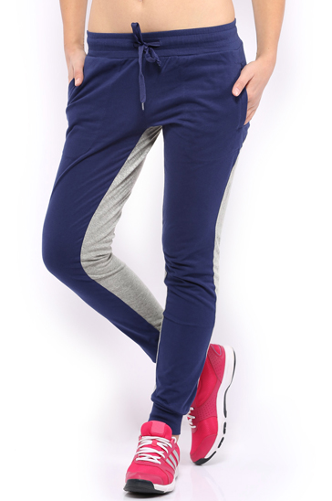 Navy blue and grey women's track pants