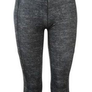 Textured Grey Slim Fit Capri for Women Wholesale