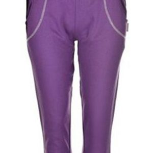 Solid Purple Capri for Women Wholesale