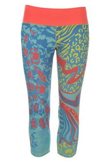 Wholesale Abstract Printed Capri for Women