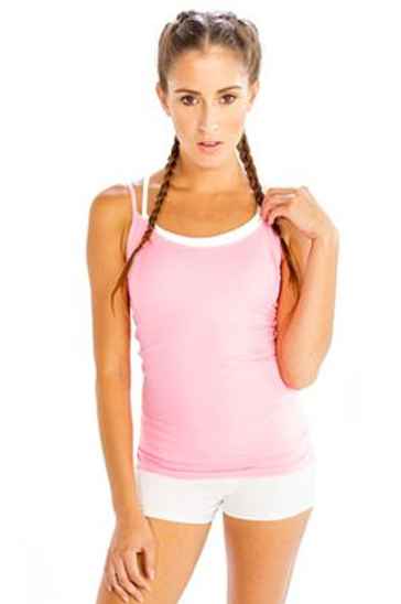 White women's fitness shorts