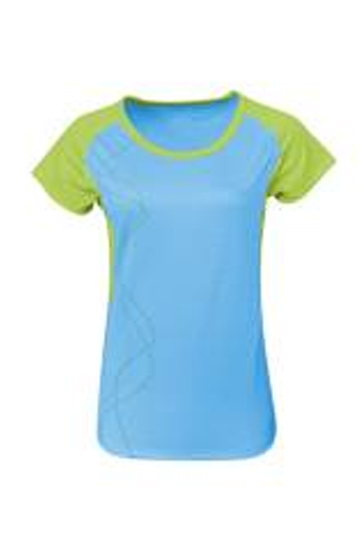 Bright green and sky blue women's t-shirt