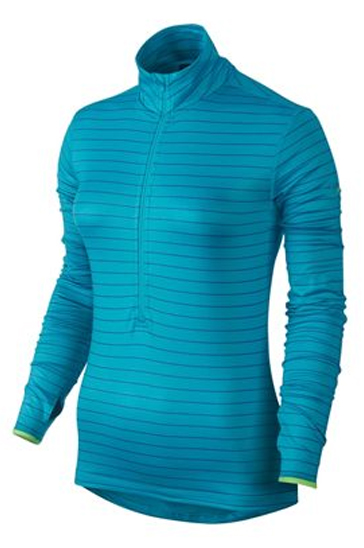 Wholesale Womens Blue Striped Compression Pullover