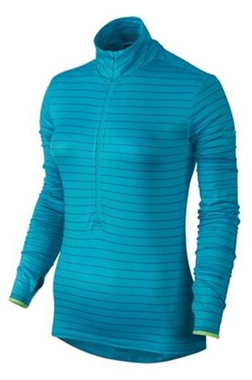 Wholesale Womens Blue Striped Compression Pullover