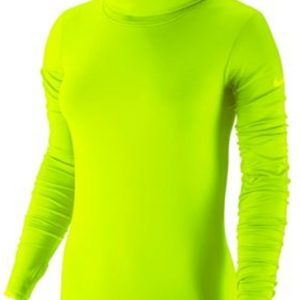 Wholesale Women's Neon Green Turtleneck Compression Pullover USA, Canada, Australia