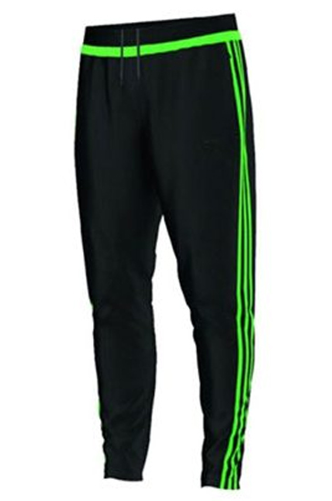Black and green men's workout pants